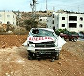 damaged ambulance