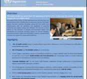 Situation report from WHO EMRO