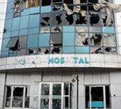 Damaged health facility in Turkey
