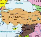map with Turkey